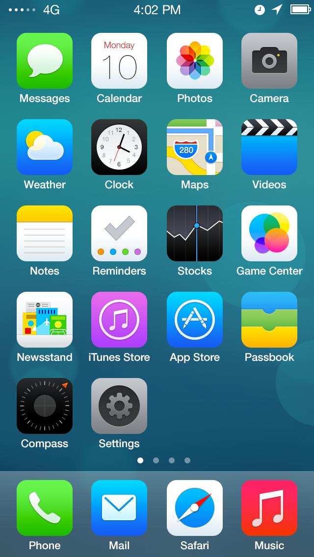 Redesign ios7 screen