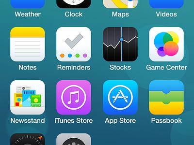 iOS 7 Redesign apple app ios 7 redesign design icon iphone mobile simple ios7 minimal