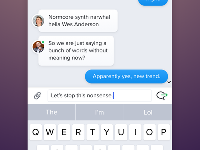 Group Chat & Refreshed Keyboard messaging app ux ui c4d animation icon keyboard chat iphone ios app