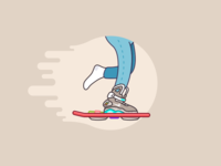 Marty, you lost your freaking shoe... illustration mag nike mcfly marty hoverboard