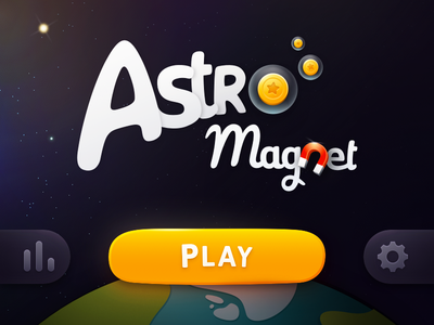 Astro Magnet illustration coin star button play ui logo ios game