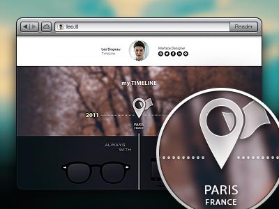 My Timeline timeline design website ui ux interface icon portfolio