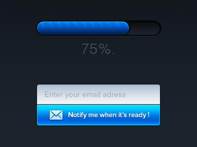 Sneak Peek n°2 - Pixelicious - WIP design ui ux email subscribe newsletter notification evolution wip sneak peek blue web typography clean