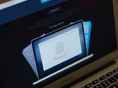 Sneak Peek n°3 - Pixelicious - WIP design ui ux macbook pro code development wip sneak peek blue web typography clean