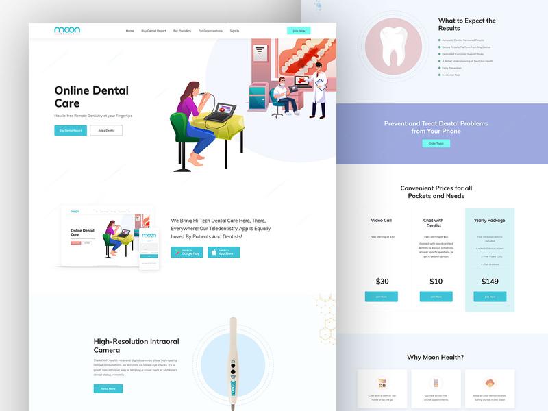 Moon Health Teledentistry Website dental website design clinic medical online dental moon health dentist oral care oral dental teledentistry dentistry