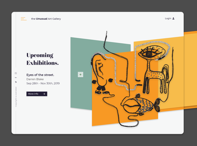 Art Gallery Web Design Minimal Shot 1