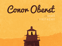 Conor Oberst Show Poster