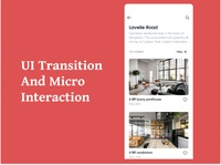 UI Transition & Micro Interaction swipe after effects ui design ui transition micro interaction ui uiux
