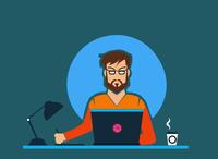 """Workspace- """"Monday Blues"""" design illistration"""
