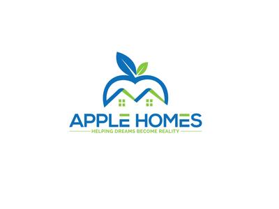 Apple Homes Logo   Branding Realestate Logo