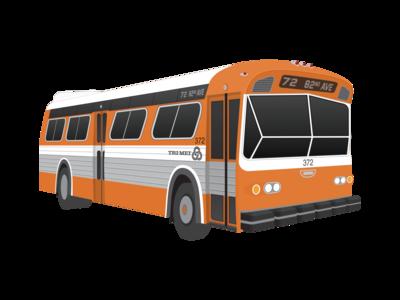 TriMet Bus Illustration (1970s)