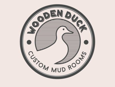 Wooden Duck sticker logodesign stamp design retro illustration vector branding logo design graphic design logo design