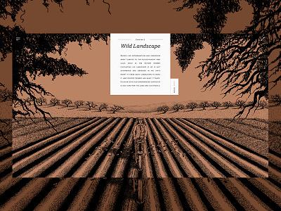 Hunter Farmer - Wild Landscape. recruitment minimal colourful illustrations farmer art