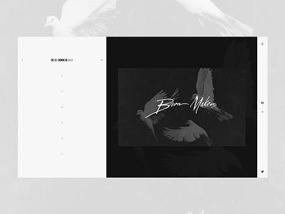Personal Portfolio - Homepage website black and white minimal