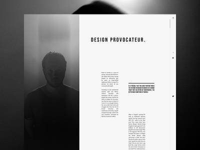 Personal Portfolio - About Page one page typography noise about website black and white minimal