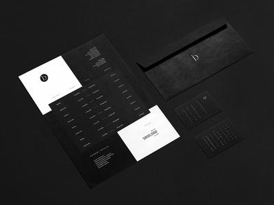 Involve Digital - Print typography idenity noise business cards envelope invoice print black and white minimal