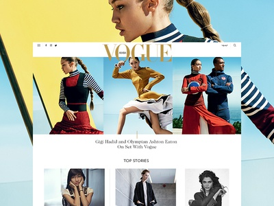 Vogue - Homepage typography grid homepage colourful photography vogue fashion