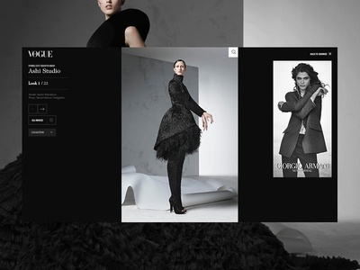Vogue - Runway Slideshow typography grid runway slideshow colourful photography vogue fashion
