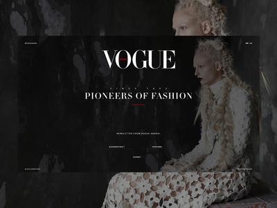 Vogue - Landingpage newsletter typography grid landing page slideshow teaser photography vogue fashion