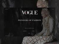 Vogue - Landingpage