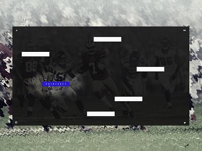 Jesper Landberg - Portfolio landing page bold sport portfolio blur distortion minimal