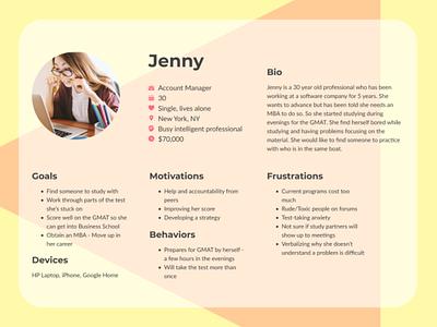 User Persona - Jenny branding user experience design user interface design ui userinterface uidesign user persona user persona ux user experience design