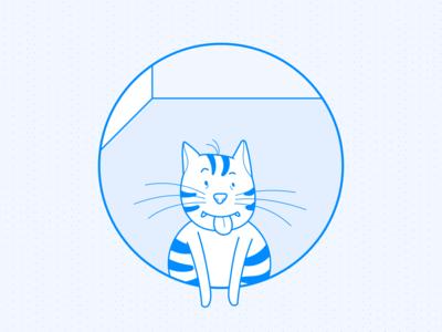 The Cat | BlueLeap branding identity design uiux artwork illustrations illustrator