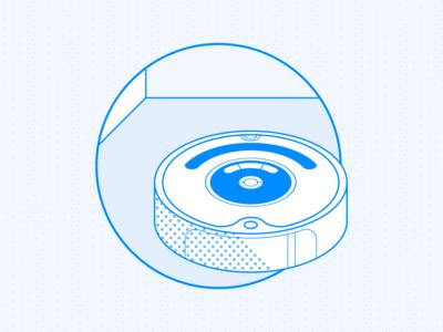 The Cat | BlueLeap cleaner irobot vacuum cleaner robot identity design branding illustration