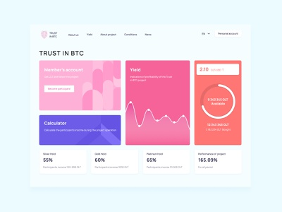 Trust in BTC web branding ui design