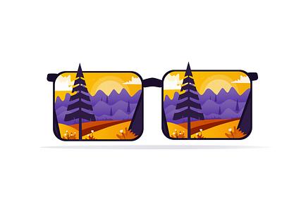 Magic Goggles sunrise destiny travel mountins trees