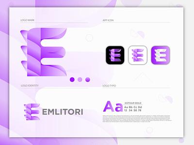 Modern E logo brand identity logo design branding d logo vector d letter logo d logo logo design minimalist logo gradient logo flat logo modern logo