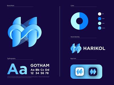 Modern H Logo h logo vector h letter logo h logo design modern logos flat icons flat logo design logo design gradient logo flat logo modern logo