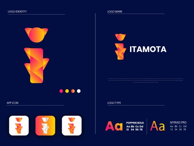 Modern I logo brand identity logo and branding i letter logo i logo gradient logo logo design modern design modern logo flat icons flat logo