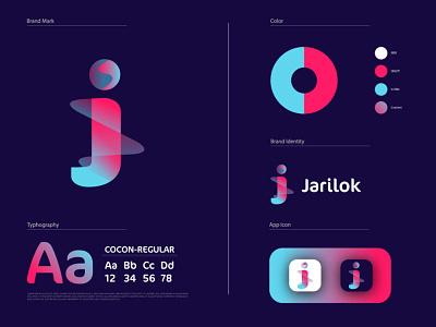 Modern J Logo brand identity logo and branding j logo j letter logo creative logo unique logo gradient logo flat logo logo design modern logo