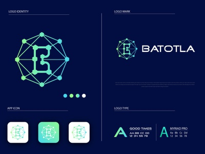 Batotla Tech Logo brand identity minimalist logo minimal logo technology logo tech logo logo and branding logo design gradient logo modern logo flat logo