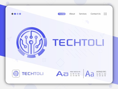 Techtoli   Modern Logo   Flat Logo brand identity logo and branding technology logo tech logo minimal logo logo design gradient logo minimalist logo modern logo flat logo
