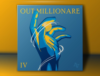 Out Millionaire Cover branding design art music illustration music branding music art album artwork album cover design album cover album art