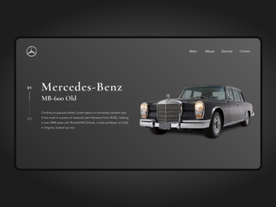 Mercedes Benz - Main Page