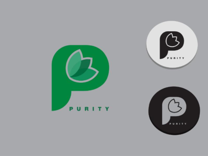 P letter logo icon app vector illustration concept logo design minimal typography letter logo lettermark logotype branding logo. unique logo logo