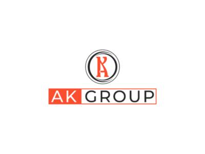 Ak logo design branding logo. unique logo logo logotype icon app vector illustration concept logo design minimal typography letter logo lettermark
