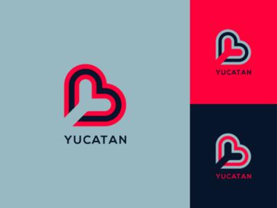 Negative space logo. branding logo. unique logo logo logotype icon app vector illustration concept logo design minimal typography letter logo lettermark y lettering negative space