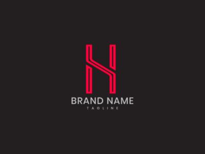 H letter mark logo branding logo. unique logo logo logotype icon app vector illustration concept logo design minimal typography letter logo lettermark