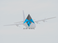 Air mail logo express delivery branding logo. unique logo logo logotype app vector illustration concept logo design minimal abstract letter logo delivery mail air