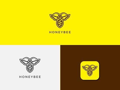 Bee logo ui branding graphic design animation design vector logo design illustration logotype branding logo unique logo logo