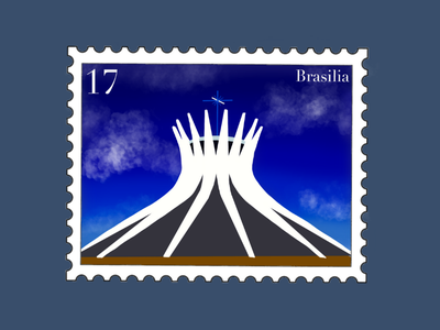 Brasilia Travel Stamp church capital catedral de brasilia cathedral braziliandesigner stamp stamp sticker vacation procreate illustration travel stamp travel etsy shop etsy seller destination stamp destination design brasil brazil