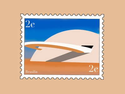 Brasilia Museum Travel Stamp stamp design stamp sticker vacation procreate illustration travel stamp travel etsy shop etsy seller destination stamp destination design