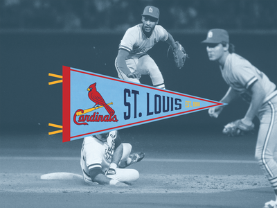 St. Louis Cardinals Throwback Pennant