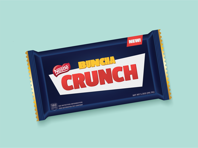 NEW Buncha Crunch Candy Bar Design