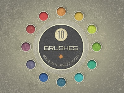 Speckle Brushes made of Cocoa (free download) textures patterns gui ui freebie photoshop brushes speckles grunge dirt vintage download free