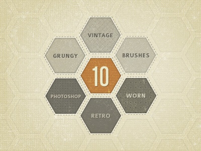 Cocoa Vintage Brushes, Part Deux brushes vintage retro grungy photoshop gui ui textures patterns freebie download